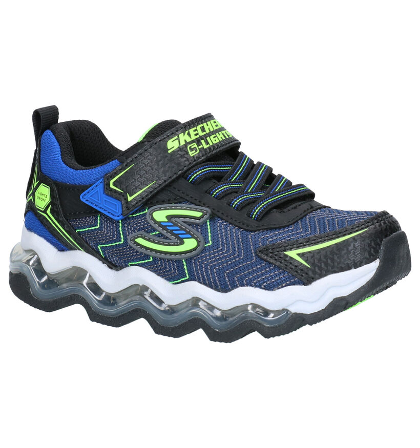 Skechers Turbowave Baskets en Bleu en simili cuir (263922)