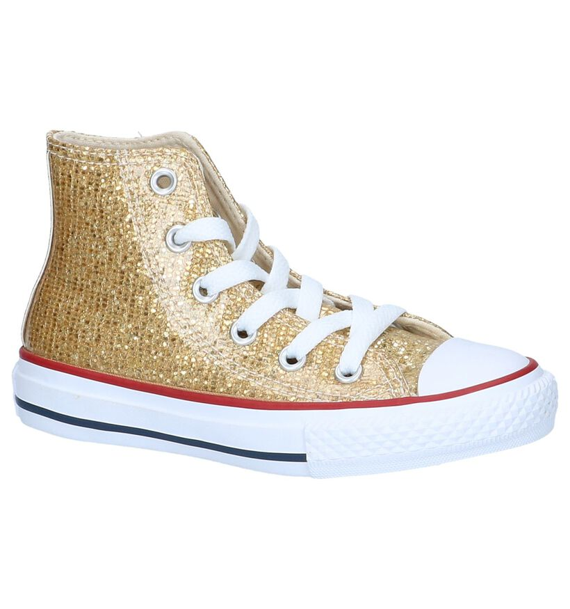 Gouden Sneakers Converse Chuck Taylor All Star High in kunstleer (200201)