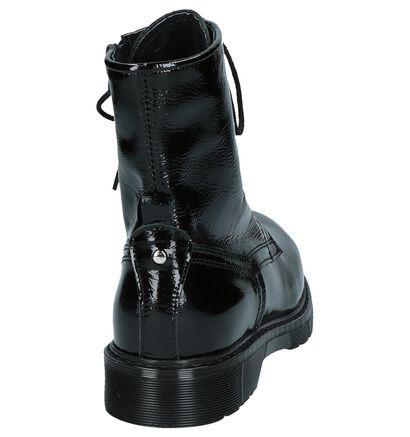 Zwarte Boots Rits/Veter Poelman, Zwart, pdp