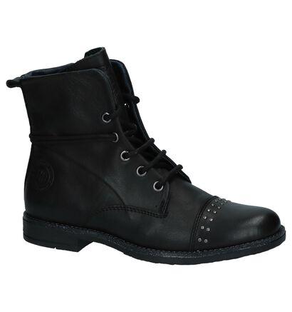 Zwarte Stoere Boots met Studs Hampton Bays in leer (224116)