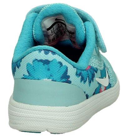 Nike Revolution Baskets basses en Bleu clair en textile (198117)