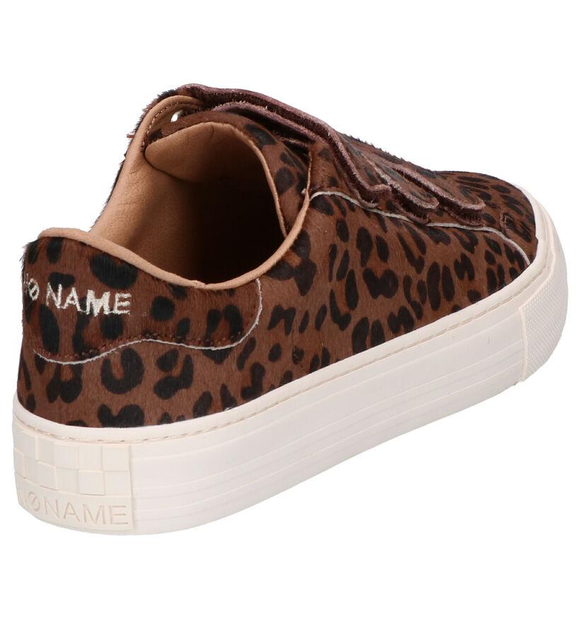 No Name Arcade Bruine Sneakers in daim (261481)
