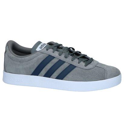 adidas VL Court 2.0 Zwarte Sneakers in daim (237225)