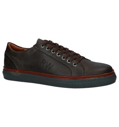 River Woods Chaussures basses en Brun foncé en cuir (231797)
