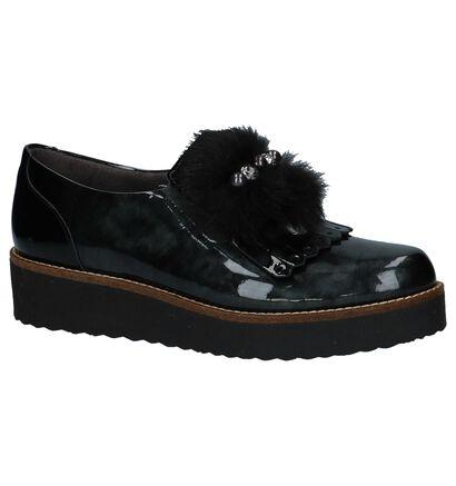 Pitillos Chaussures slip-on en Vert foncé en cuir (235973)