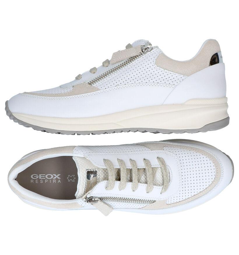 Geox Airell Chaussures à lacets en Blanc en cuir (285578)