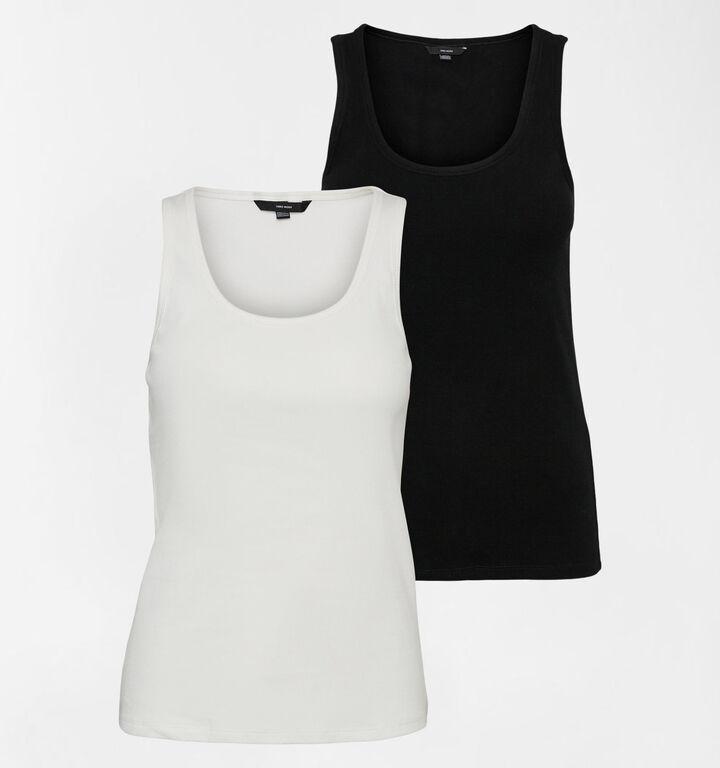 Vero Moda Jessica 2 Pack Tops Zwart en Wit