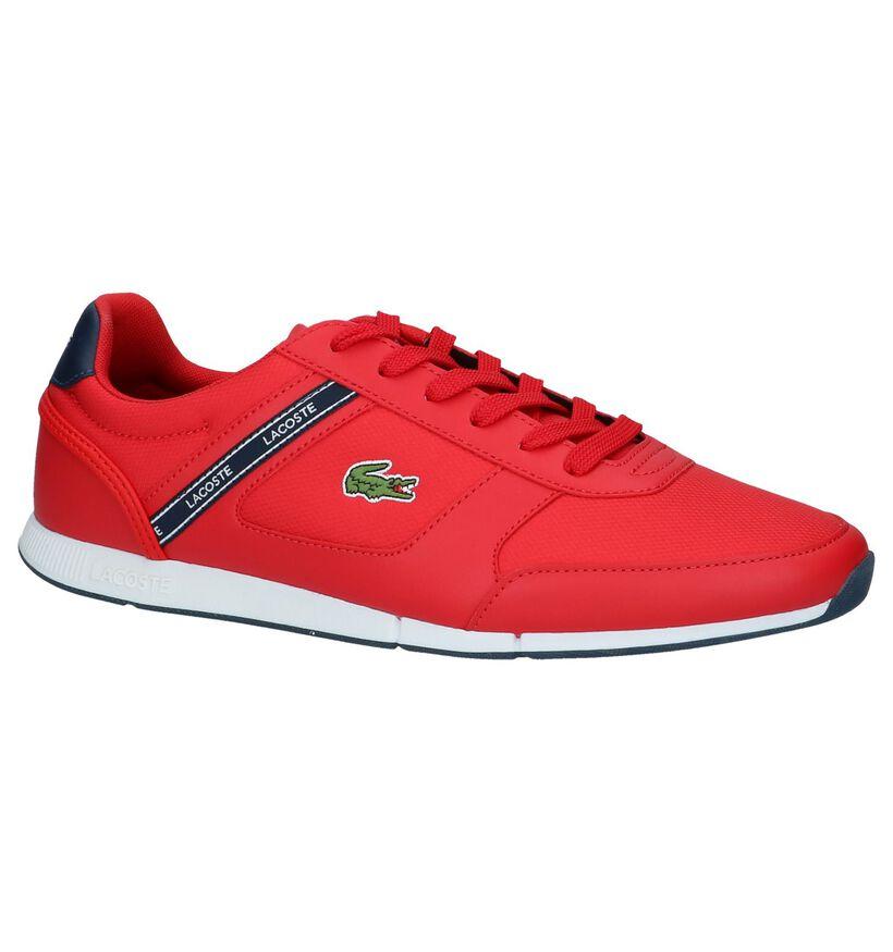 Rode Sneakers Lacoste Menerva Sport in kunstleer (239376)