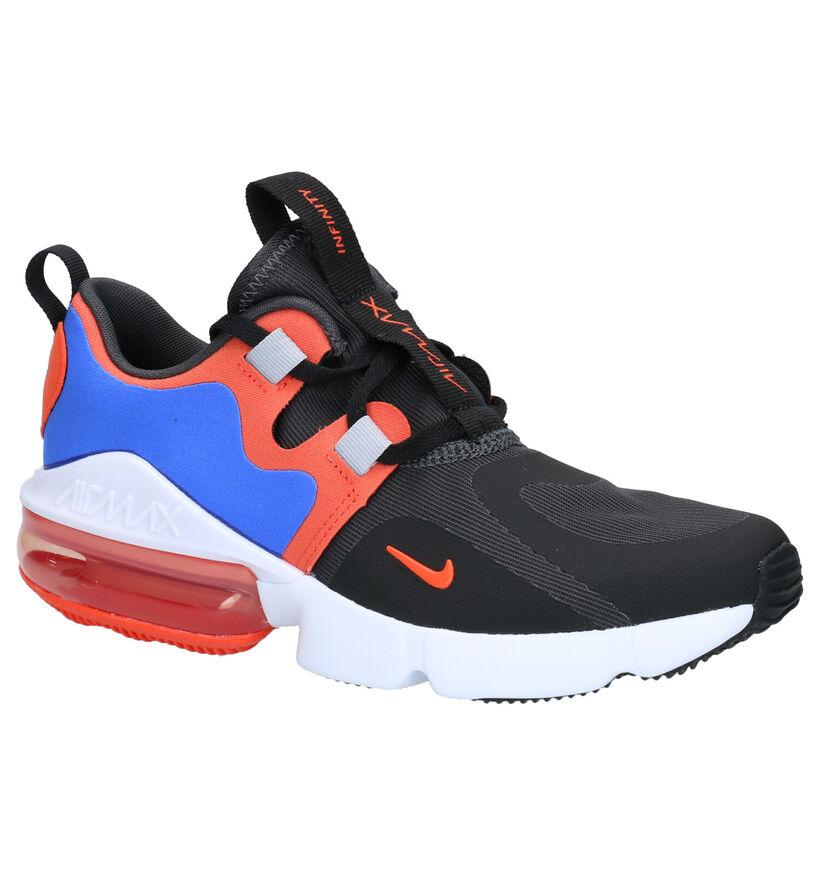 Nike Air Max Infinity Blauw/Zwarte Sneakers in stof (261674)