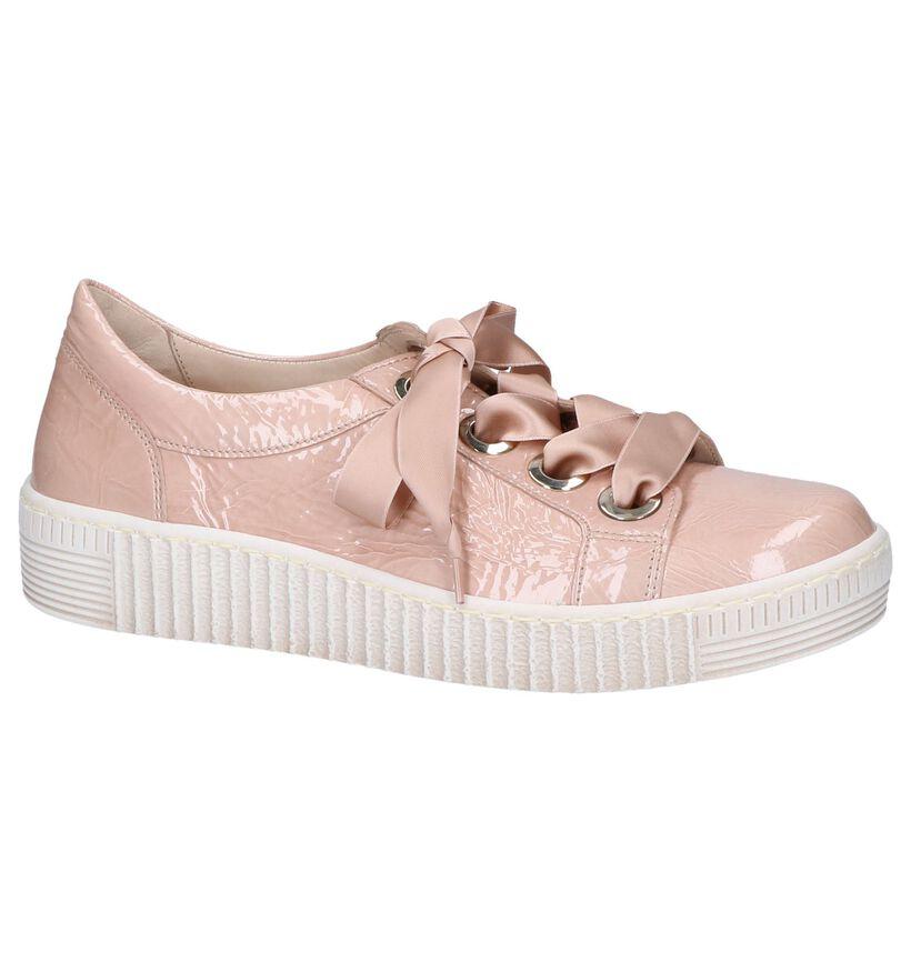 Best Fitting Chaussures à lacets en Rose en cuir (245526)