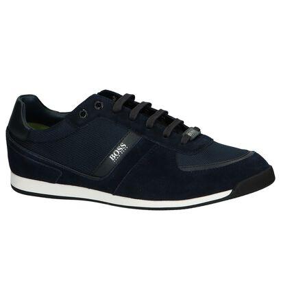 Zwarte Lage Schoen Glaze Low Hugo Boss, Blauw, pdp