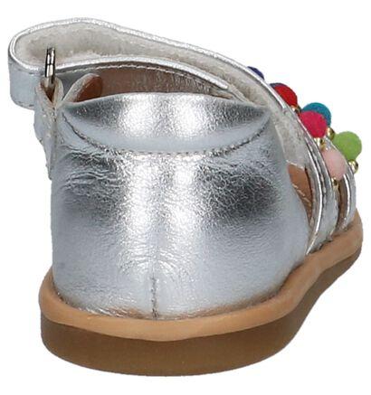 Shoo Pom Tity Pompon Sandalen Zilver in leer (215633)