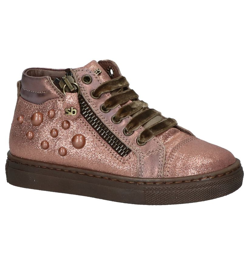 STONES and BONES Chaussures hautes en Or rose en cuir (223368)