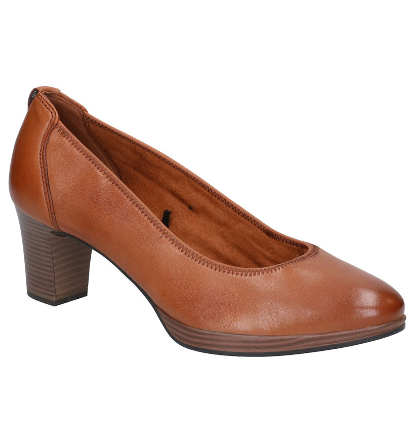 Tamaris TOUCH it Cognac Pumps in leer (270255)