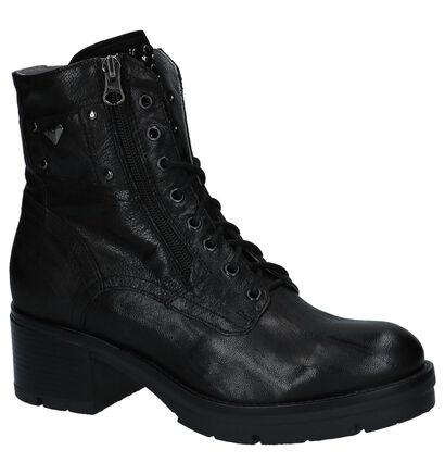 NeroGiardini Zwarte Boots met Rits en Veter, Zwart, pdp
