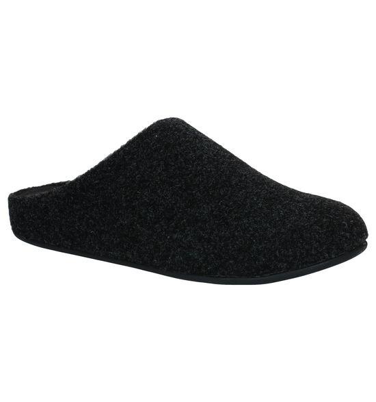 FitFlop Chrissie Felt Pantoufles en Noir