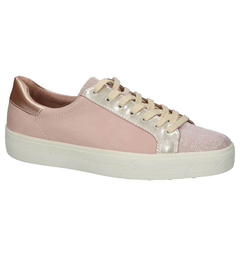 Tamaris Baskets basses en Rose en cuir (214185)