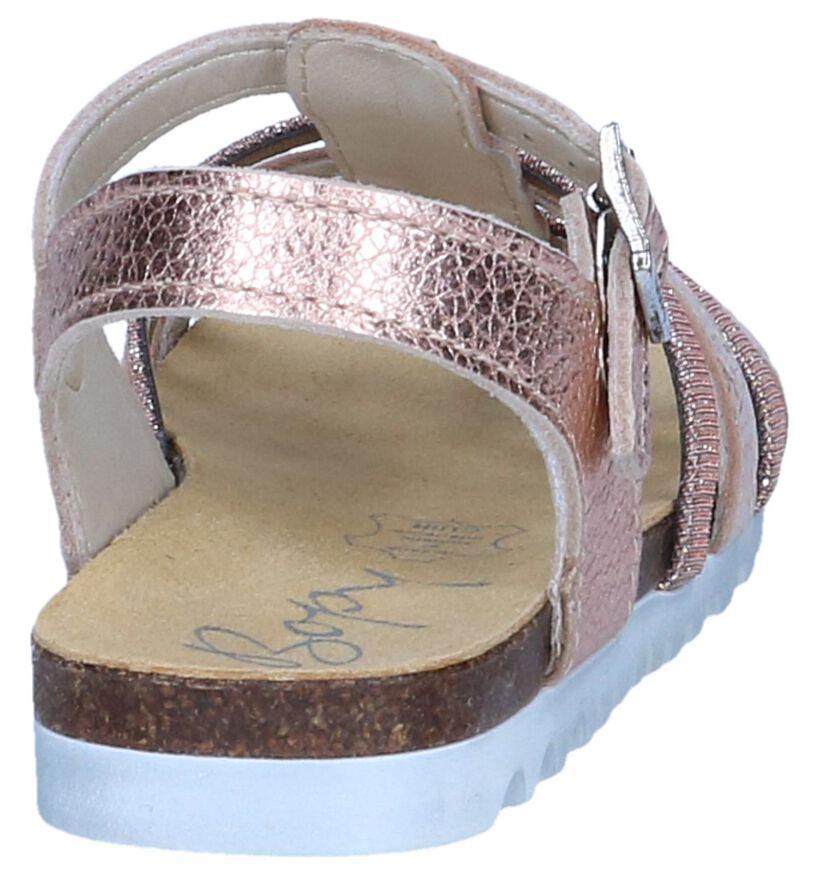 Metallic Roze Sandalen Bopy Emarose in leer (242839)