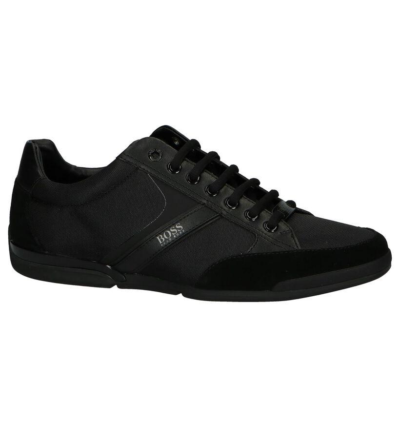 Hugo Boss Chaussures basses en Noir en simili cuir (240857)