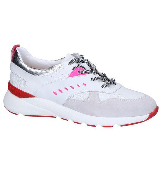 Witte Geklede Sneakers Maripé