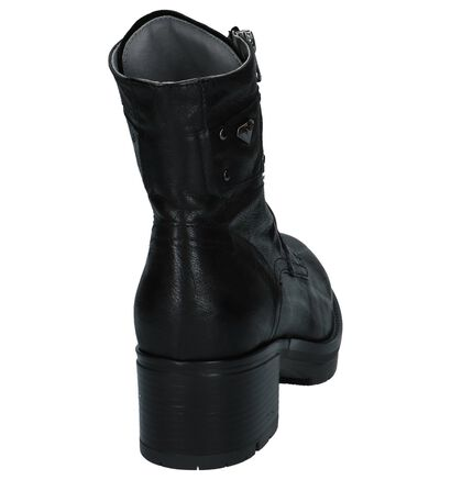 NeroGiardini Zwarte Boots met Rits en Veter in leer (226514)