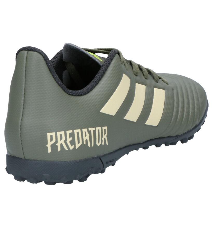 adidas Predator 19.4 Chaussures de foot en Vert kaki en simili cuir (262571)