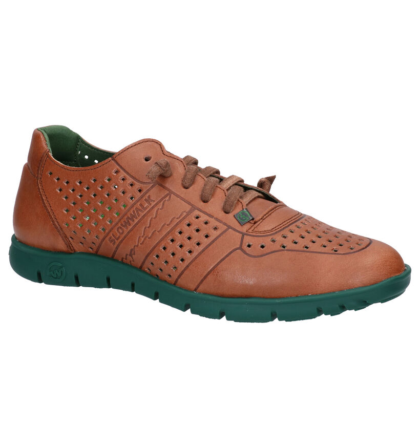 Slowwalk Morvi Cognac Veterschoenen in leer (275053)
