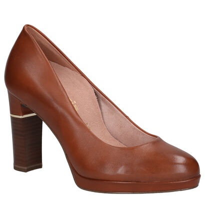 Tamaris Heart & Sole Cognac Pumps in leer (257112)
