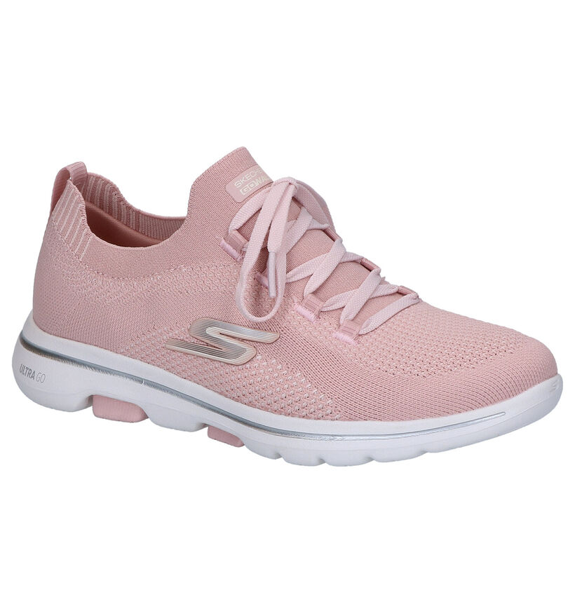 Skechers Witte Slip-in Sneakers in stof (272727)