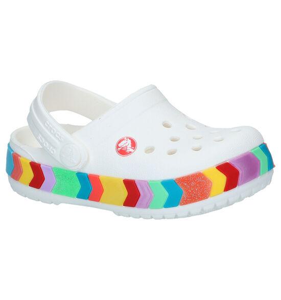 Crocs Chevron Beaded Clog Witte Sandalen