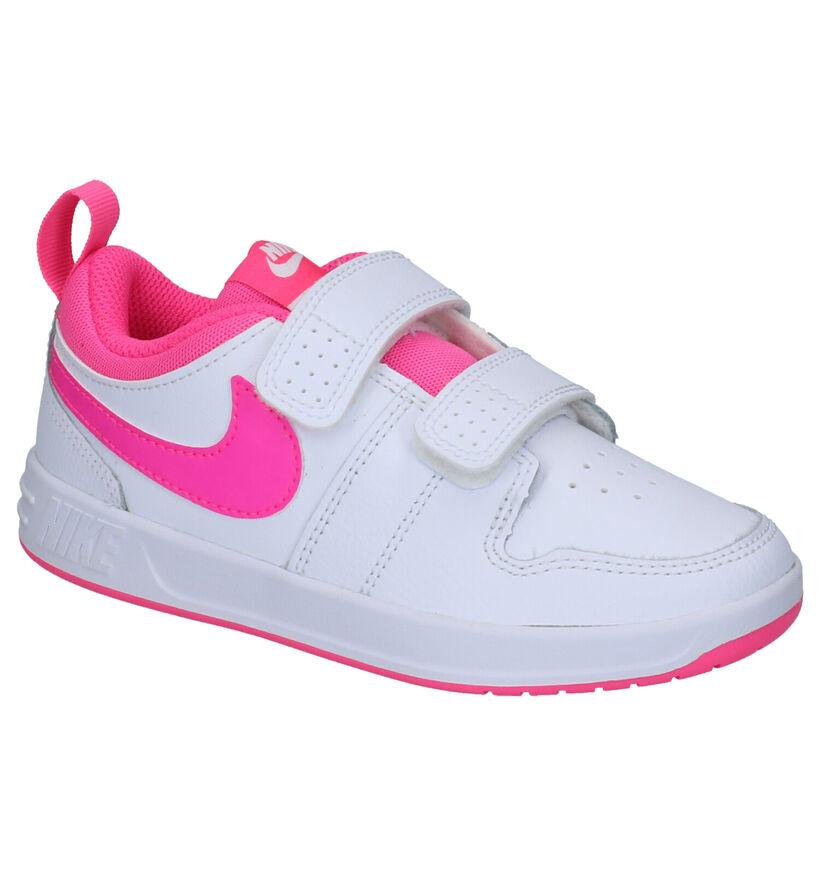 Nike Pico 5 Witte Sneakers in kunstleer (254092)