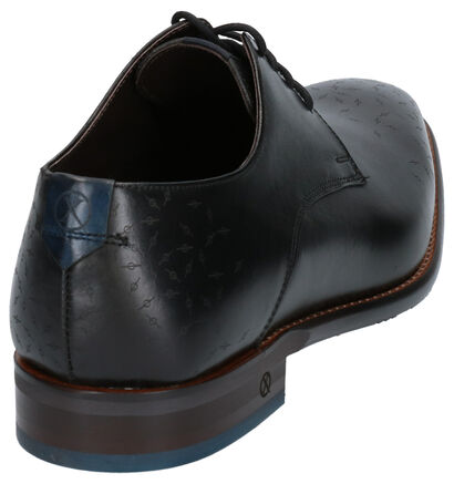 Ambiorix Derril Chaussures Habillées en Noir en cuir (259361)