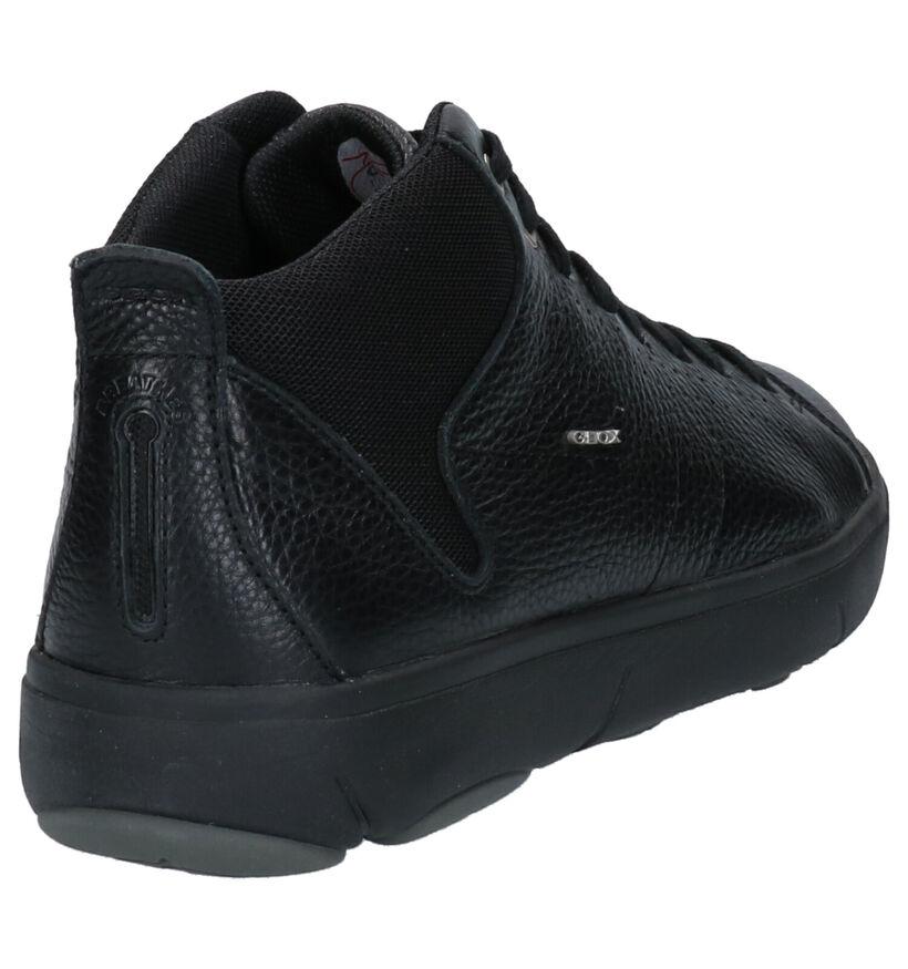 Geox Chaussures hautes en Noir en cuir (264085)