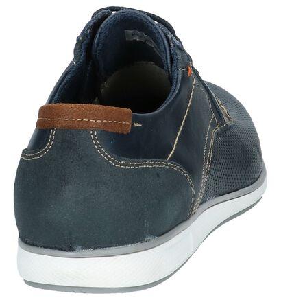 Borgo Sport Chaussures basses en Bleu foncé en cuir (209758)