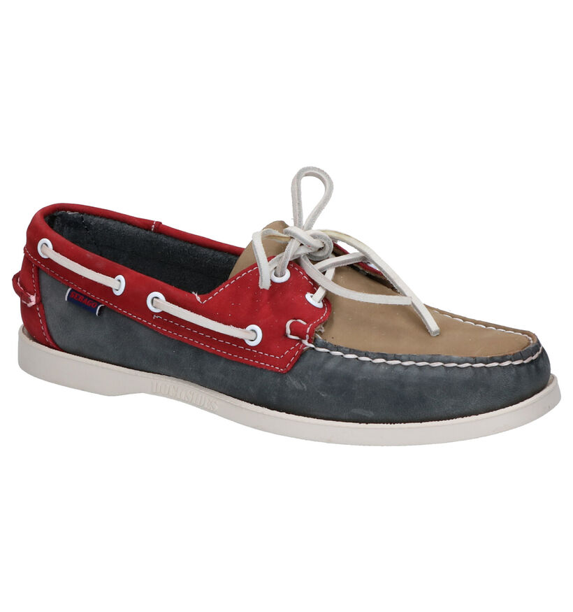 Sebago Chaussures bateau en Gris en nubuck (269301)