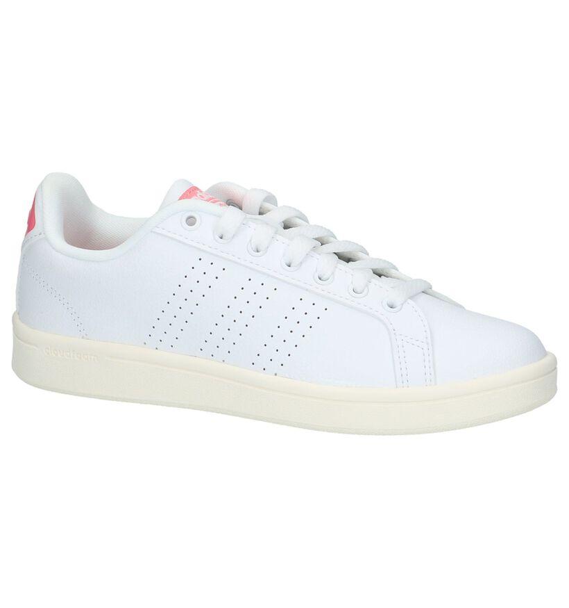 adidas Cloudfoam Adventage Baskets en Blanc en simili cuir (218293)