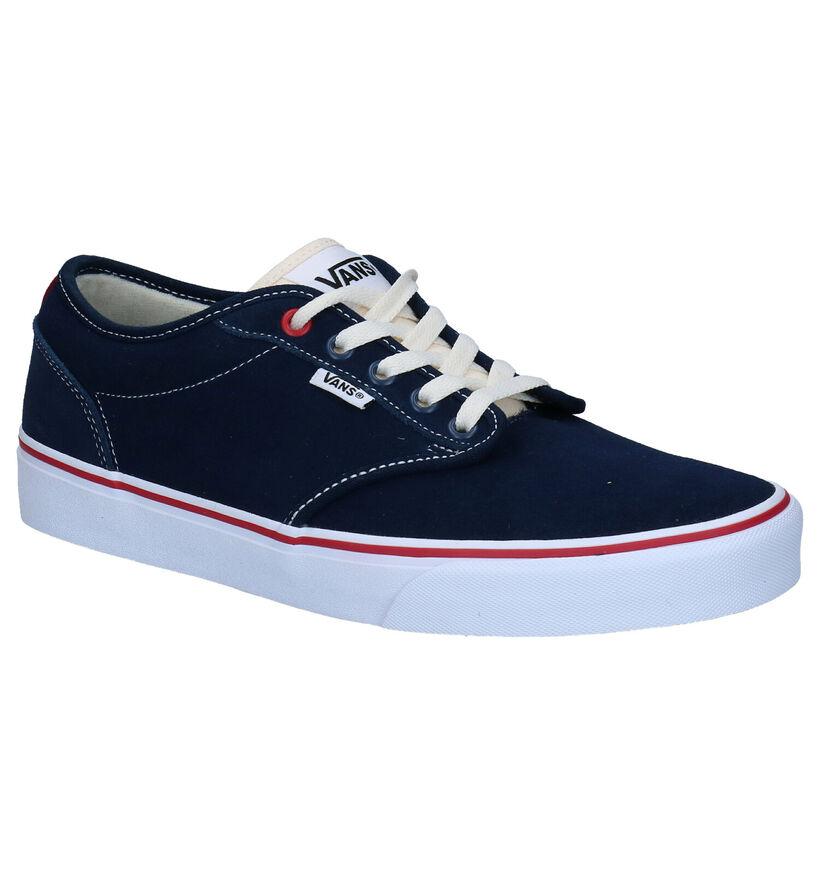 Vans Atwood Blauwe Skatesneakers in nubuck (277686)