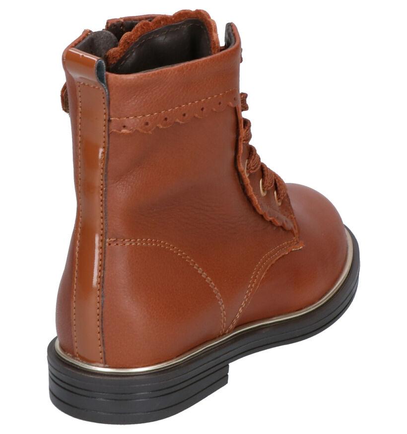 Little David Tigan Cognac Boots in leer (261164)