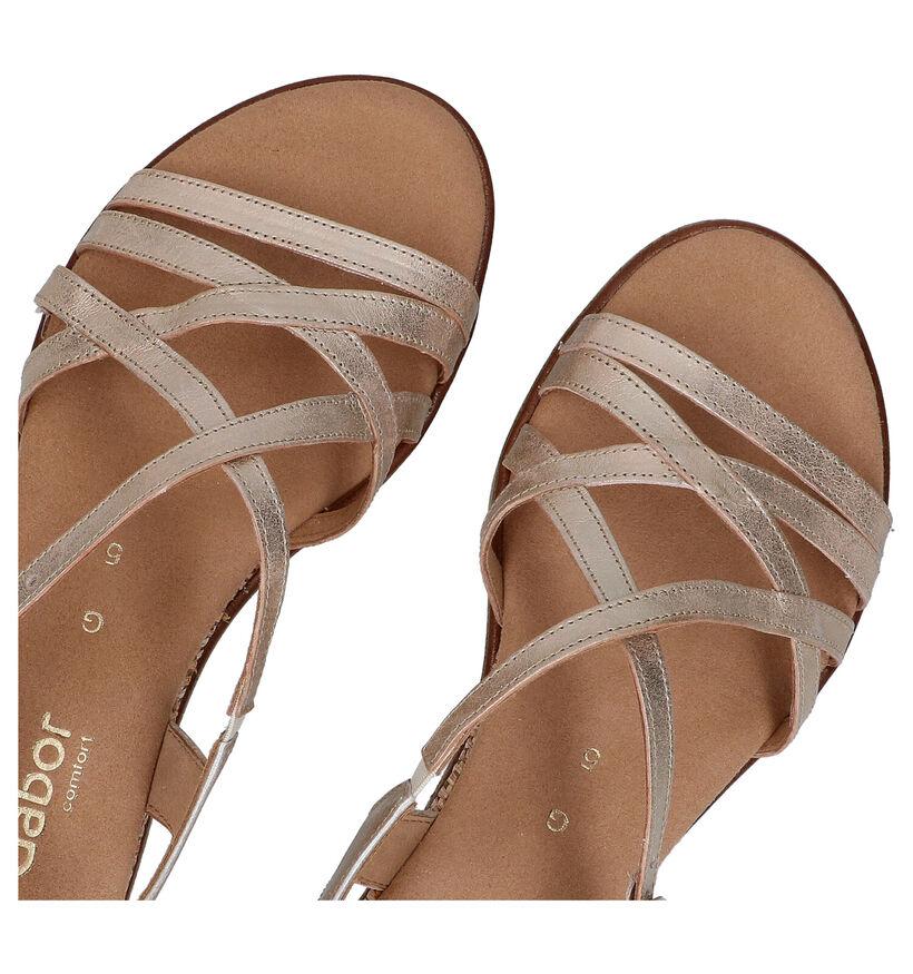Gabor Gouden Sandalen in leer (287806)