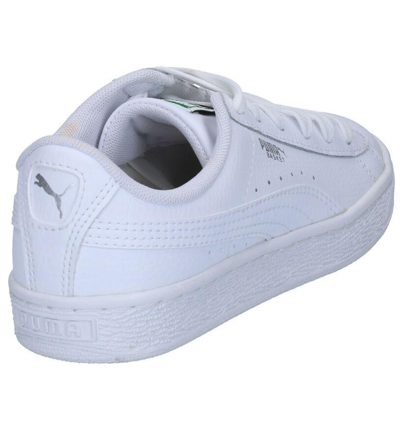 Puma Basket Classic Witte Sneakers in kunstleer (265645)