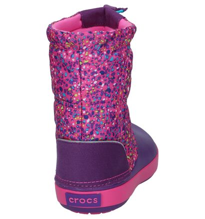 Crocs Crocband Lodgepoint Graphic Donker Blauwe Snowboots, Roze, pdp
