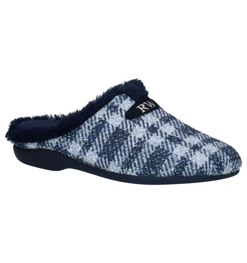 River Woods Pantoufles ouvertes en Bleu en textile (281926)
