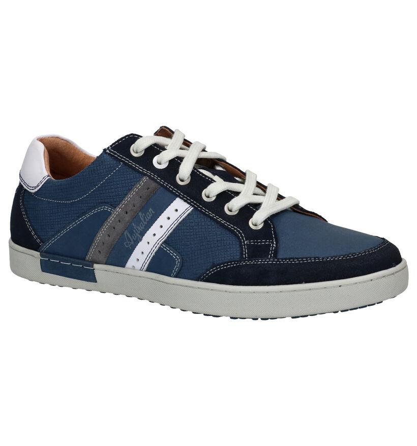 Australian Lombardo Chaussures à lacets en Bleu en cuir (289121)