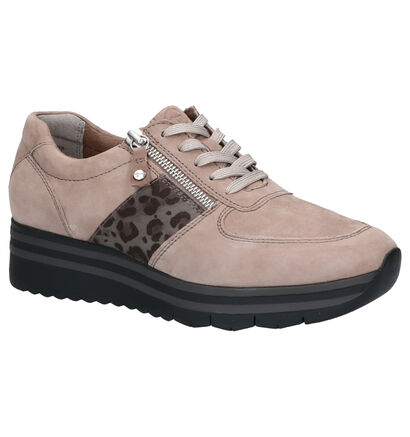 Tamaris Relaxed Fit Taupe Sneakers in daim (262750)