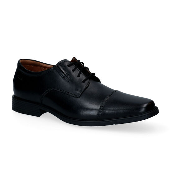 Clarks Tilden Plain Zwarte Veterschoenen