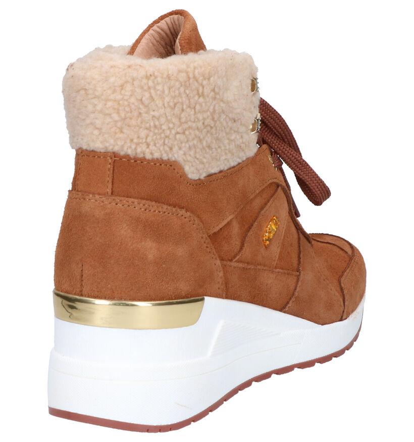Scapa Cognac Boots in daim (259123)