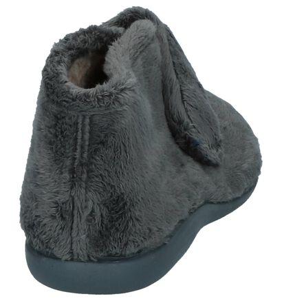 Via Limone Donker Grijze Pantoffels in faux fur (223821)