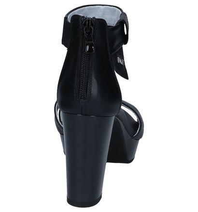 NeroGiardini Sandales à talons en Noir en cuir (244448)