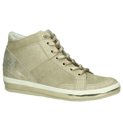 Khrio Sleehak Sneakers Goud in daim (190058)