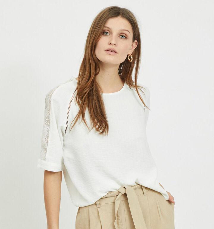Vila T-shirt en Blanc